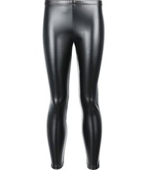 calzedonia girl's thermal leather-effect leggings girl black size 9-10