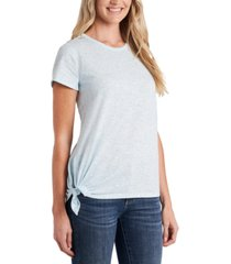 cece printed side-tie t-shirt