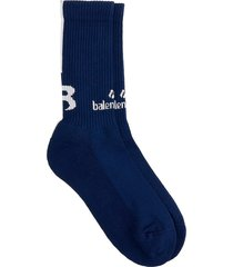 balenciaga socks in blue cotton