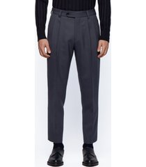 boss men's pillip1 pleat-front trousers