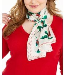 echo holly jolly silk oblong scarf