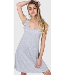 vestido gris chelsea market lupita corto
