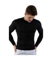 camisa térmica rioutlet segunda pele preta.