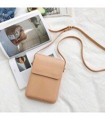 donne solid faux leather 6 pollici telefono borsa square shoulder borsa