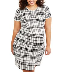 motherhood maternity plus size plaid dress