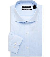 trim-fit striped dress shirt