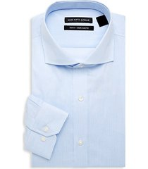 trim-fit striped dress shirt