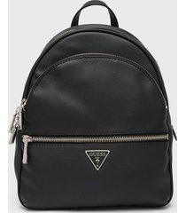 mochila manhattan large backpack negro guess