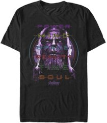 marvel men's avengers infinity war thanos power mind space short sleeve t-shirt