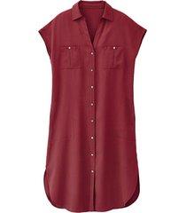blousejurk van tencel™, bourgogne 46