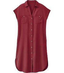 blousejurk van tencel™ vezels, bourgogne 42
