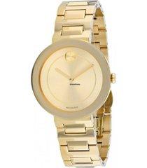 reloj bold movado modelo 3600498 dorado