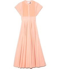 popeline dress in coral