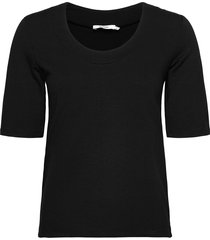 claire top t-shirts & tops short-sleeved svart stylein