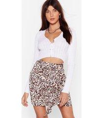 womens well naturally animal mini skirt - cream