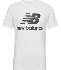 essentials stacked logo t t-shirts short-sleeved vit new balance