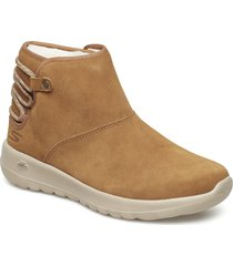 womens on-the-go joy - aglow shoes boots ankle boots ankle boot - flat brun skechers