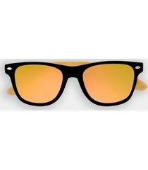 okulary przeciwsłoneczne z oprawkami okulary przeciwsłoneczne z oprawkami złote (gładkie, bez nadruku)