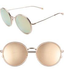 women's salt. audrey 56mm mirrored polarized round sunglasses -