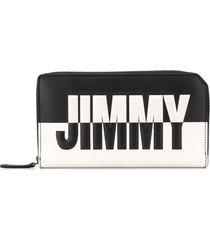 jimmy choo carnaby bicolour travel wallet - black