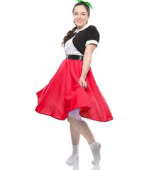 red full circle skirt - 1950s retro swing style by hey viv !