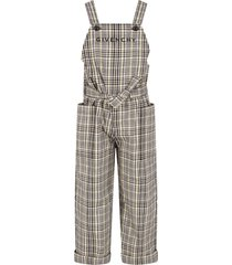 givenchy grey and yellow overalls with logo for girl