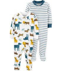carter's baby boys 2-pk. cotton footie coveralls