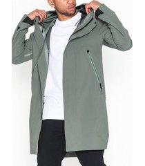 krakatau hooded rain coat jackor ljus grå