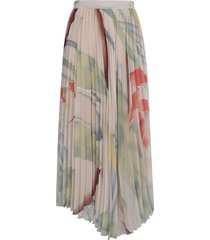 etro long fantasy pleated skirt