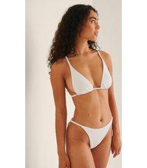 na-kd swimwear ribbstickad bikinitrosa med hög benskärning - white