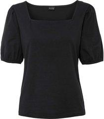 bellissima maglia in cotone biologico con maniche a palloncino. (nero) - bodyflirt