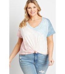 maurices plus size womens 24/7 multi tie dye drop shoulder classic tee