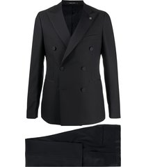 tagliatore cross front suit - black