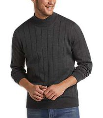 joseph abboud charcoal 37.5® modern fit mock neck sweater