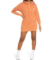 women's bp. women's washed sweatshirt dress, size medium - brown