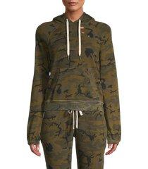 n:philanthropy women's gamble camo hoodie - olive camo - size xs
