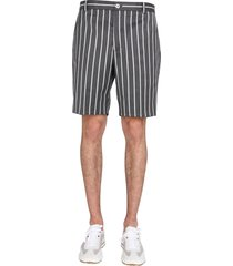 thom browne bermuda with striped pattern