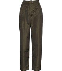laia, 924 taffeta pantalon met rechte pijpen groen stine goya