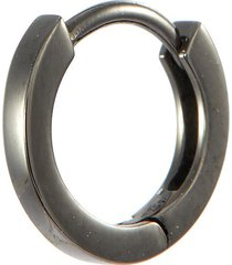 'berbère' 18k black gold mini single hoop earring
