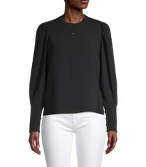 a.l.c. women's markle puff-shoulder top - black - size 00