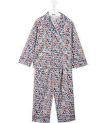 bonpoint teen logo-print pajamas - white