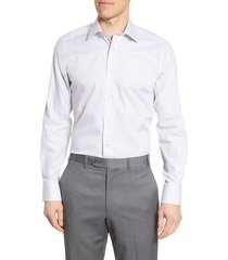 men's david donahue trim fit stripe dress shirt