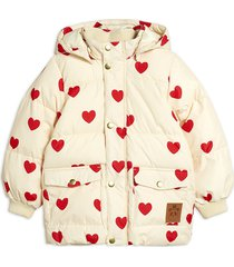 hearts pico puffer jacket gevoerd jack crème mini rodini