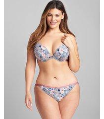 lane bryant women's cotton double string bikini panty 26/28 garden rose