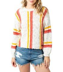 women's rip curl keep on surfin stripe sweater