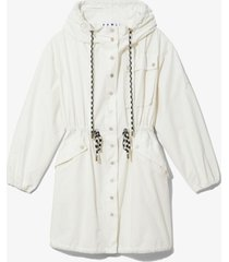 proenza schouler white label crinkled cotton coat optic white l