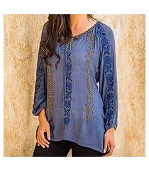 beaded tunic blouse 'jodhpur blossom' (india)