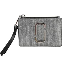 marc jacobs the snapshot glitter top zip multi wallet