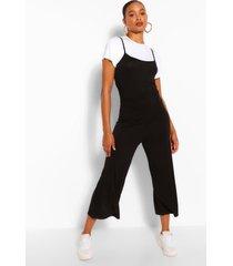 t-shirt & cami jumpsuit 2 in 1 set, black