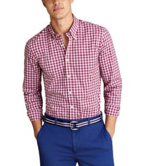 brooks brothers men's performance mini-check shirt, created for macy's